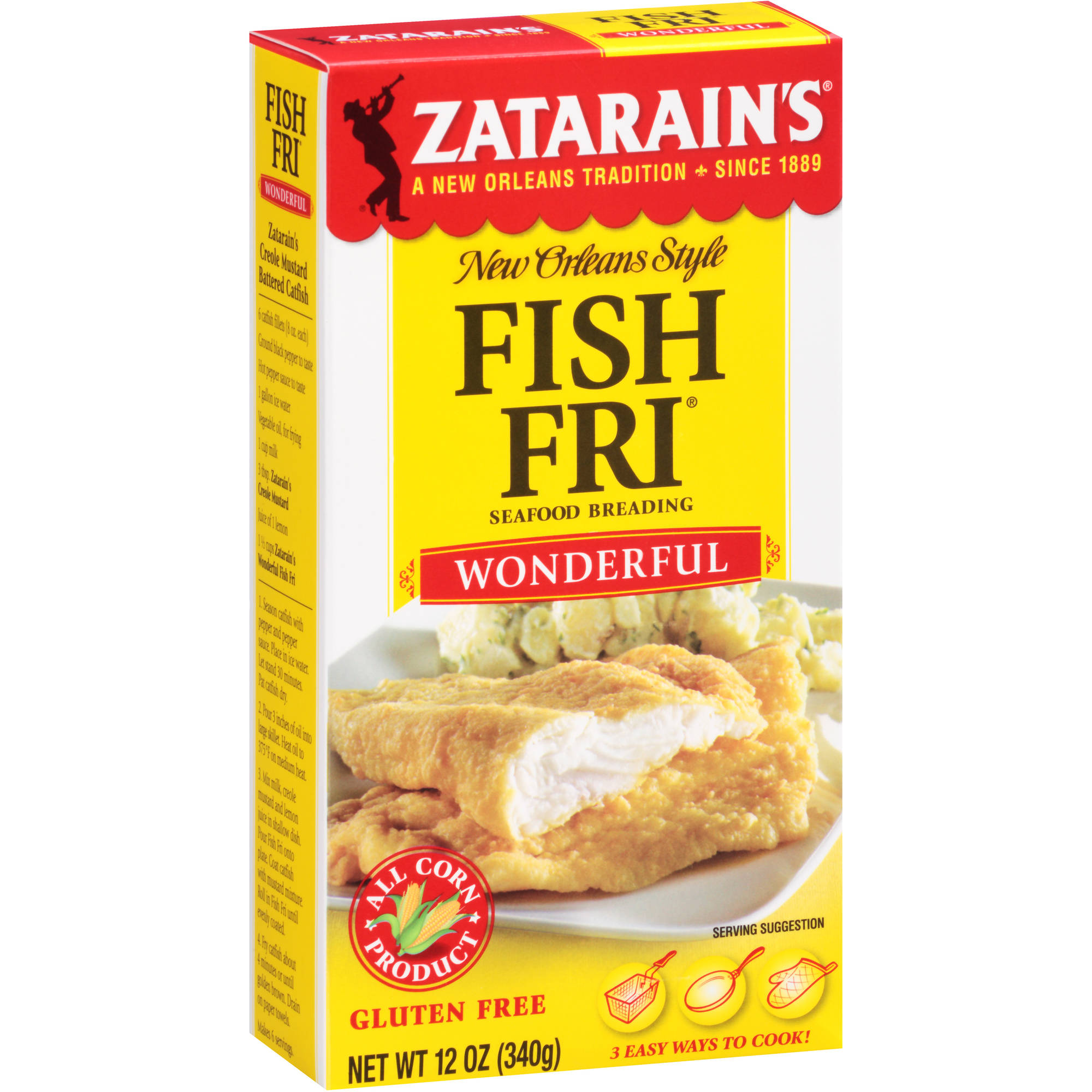 Zatarain's Wonderful Fish-Fri Seafood Breading, 12 oz