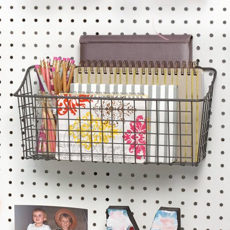 Colored Pegboard (Spectrum Pegboard and Wall Mount Basket, Industrial Gray, Extra)