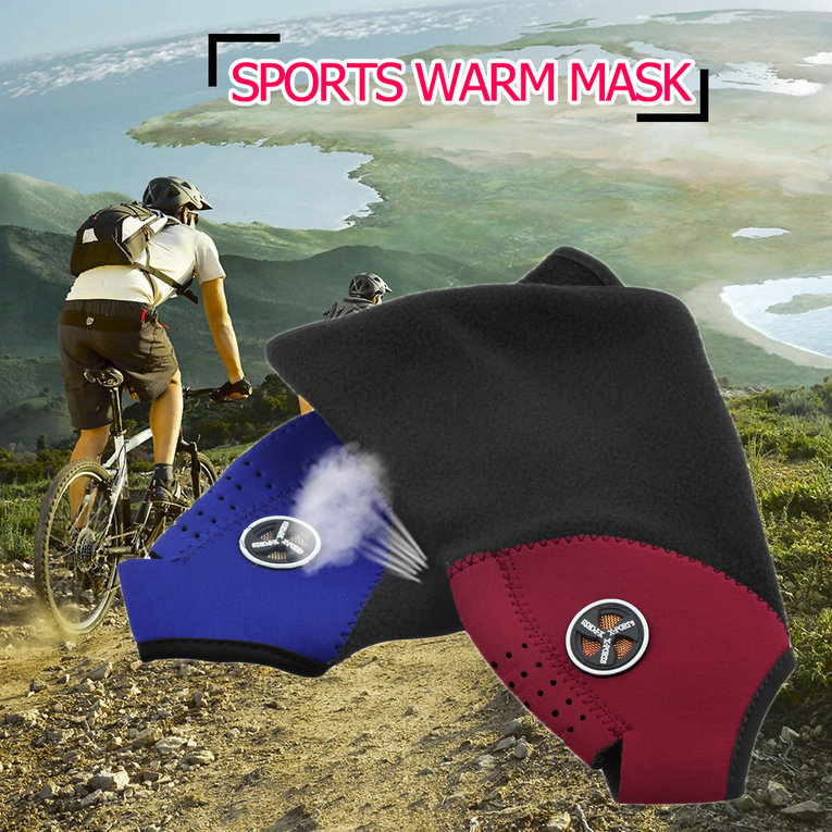 2pcs Festival Thermal Neck Warmers Fleece Balaclavas Ski Mask Ride Bike Cap CS Mask Headgear Skiing Sport Half Face Mask... by YKS