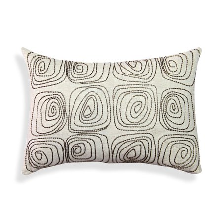 A1 Home Collections LLC Beaded Geometric Cotton Lumbar Pillow - Beaded Pillow