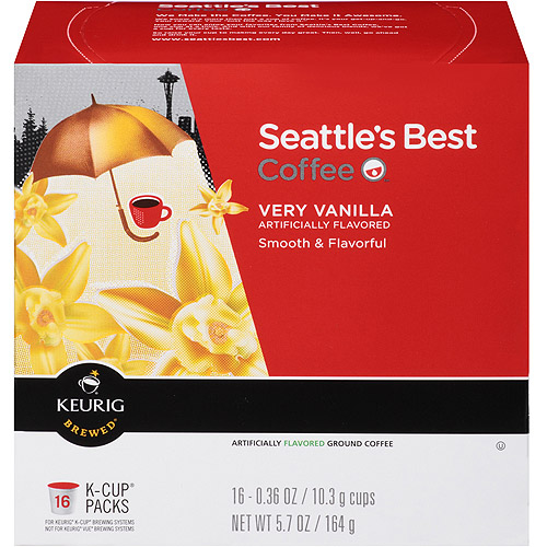 Seattle's Best Coffee Very Vanilla Coffee K-Cup Packs, 0.36 oz, 16 count