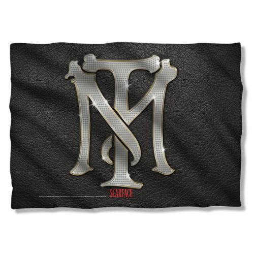 Scarface Monogram Pillow Case White One Size