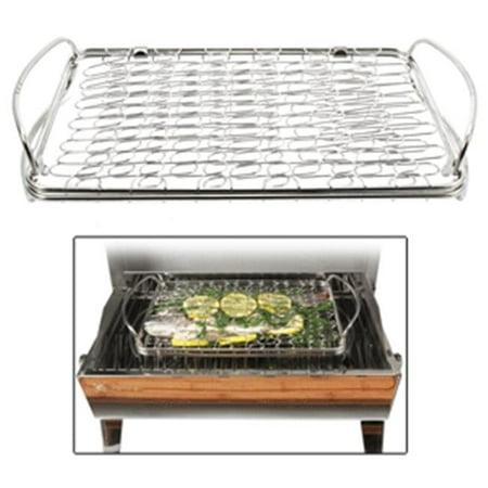 Kuuma products 58387 stainless steel fish basket for Fish basket walmart