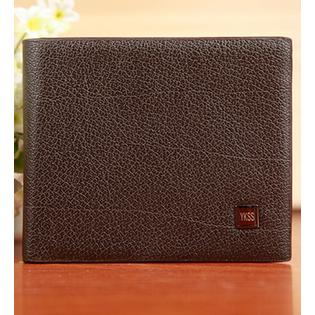 Men Cross Section Designed Bifold Flap Wallet Dark Brown