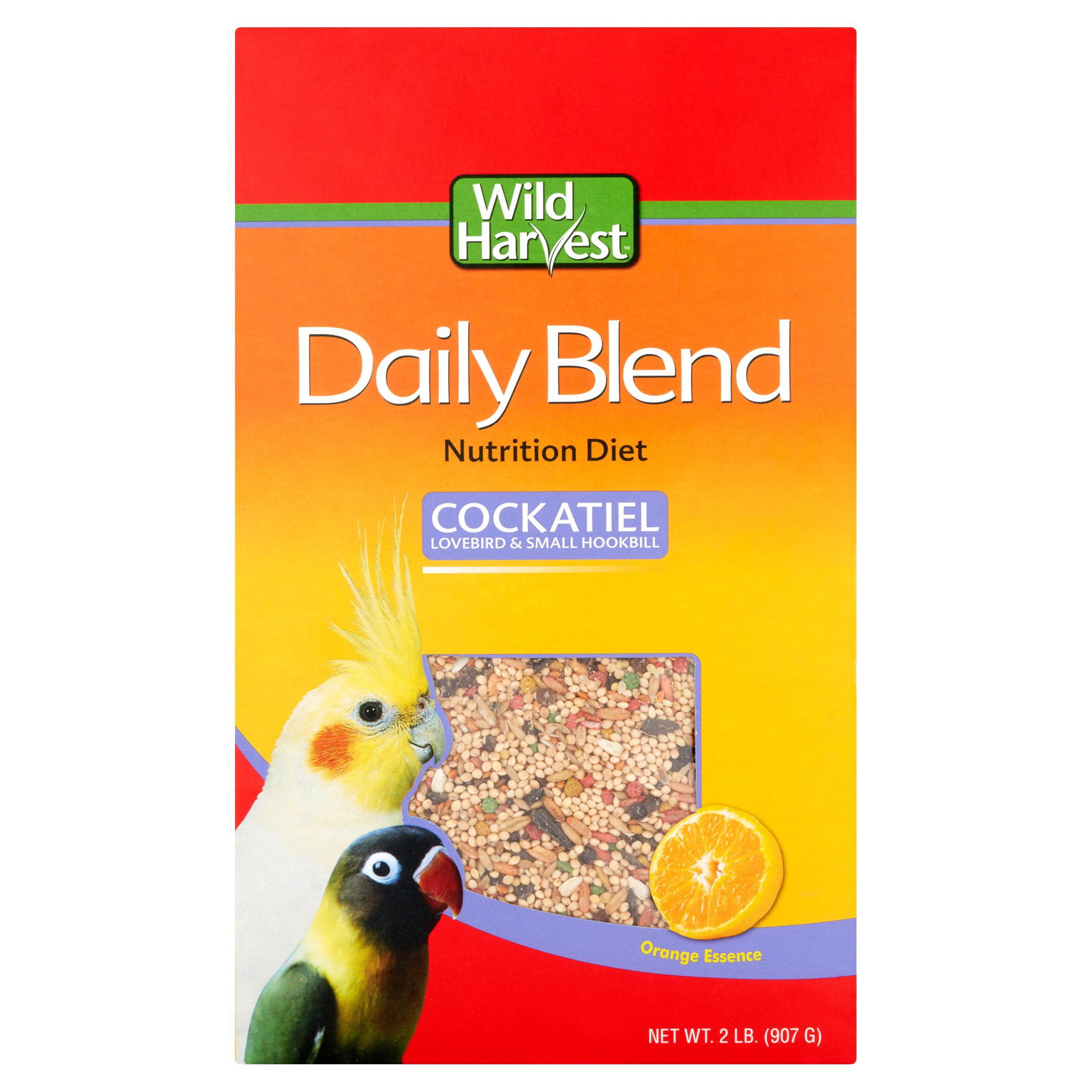 Wild Harvest Daily Blend for Cockatiels, Hookbills & Lovebirds, 2 lb