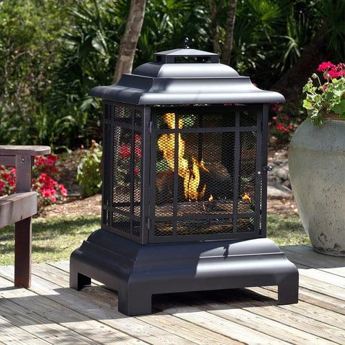 Fire Sense Rectangle Pagoda Patio Fireplace Walmart Com