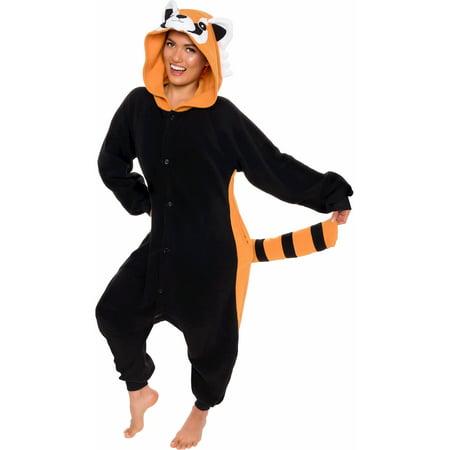 SILVER LILLY Unisex Adult Plush Red Panda Animal Cosplay Costume Pajamas