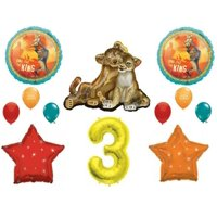 Lion King 12-Piece Birthday Balloon Kit (Click to Select Age)