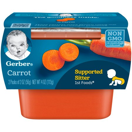 Gerber 1st Foods Carrot Baby Food, 4 oz. Sleeve (Pack of 8)