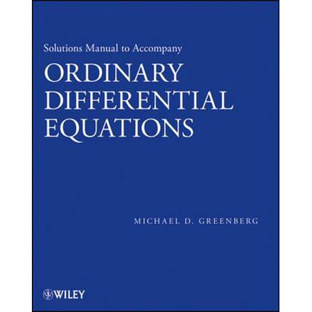 Solutions Manual to accompany Ordinary Differential Equations -