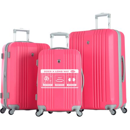 Olympia USA Corsair 3 Piece Expandable Luggage Hardcase Spinner Set