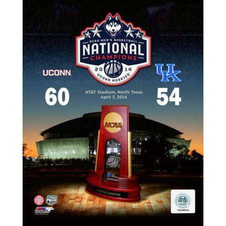 - University of Connecticut Huskies 2014 NCAA Mens College Basketball National Champions Composite Photo Print