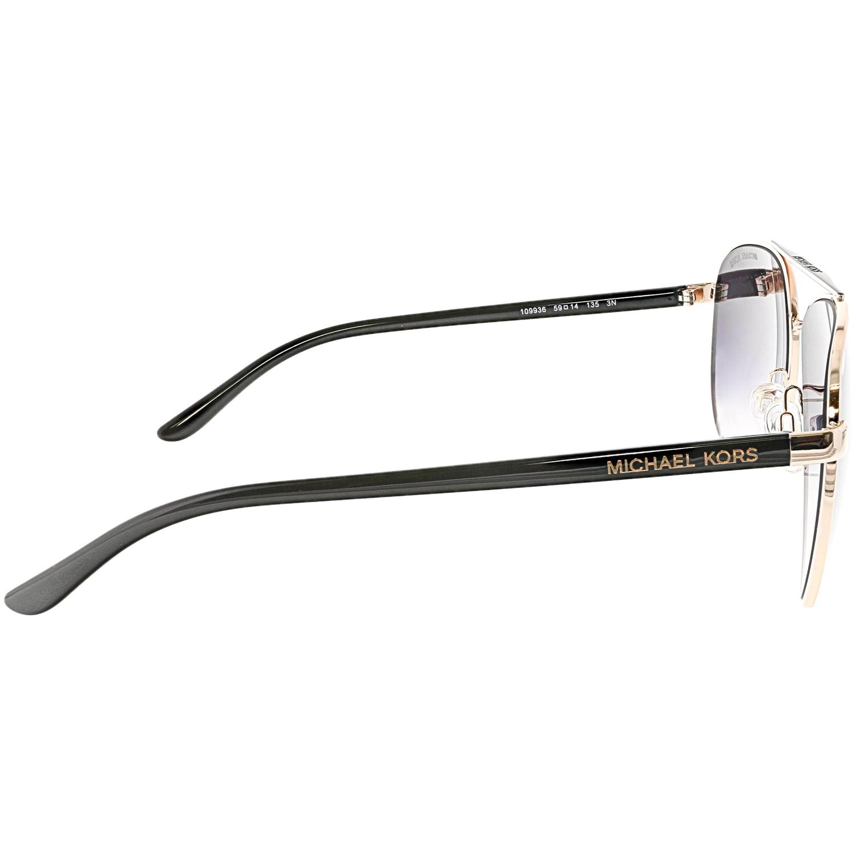 2ecb38a8f55f49 Michael Kors - Michael Kors Women s Gradient Hvar MK5007-109936-59 Rose-Gold  Aviator Sunglasses - Walmart.com