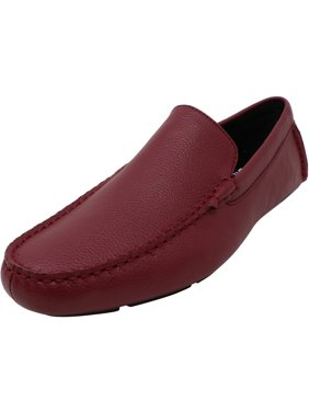 Calvin Klein Men's Kaleb Tumbled Leather Red Rock Ankle-High Loafers & Slip-On - 10.5M