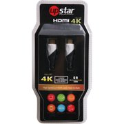 UpStar 4K Ultra HD High-Speed 2.0 HDMI Cable with Ethernet and 3D, 6'
