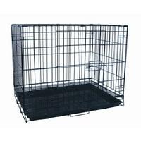 YML Single Door Pet Crate, Black