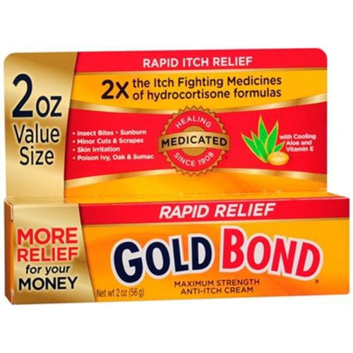 Gold Bond Medicated Anti-Itch Cream Maximum Strength 2 oz (Pack of 2)