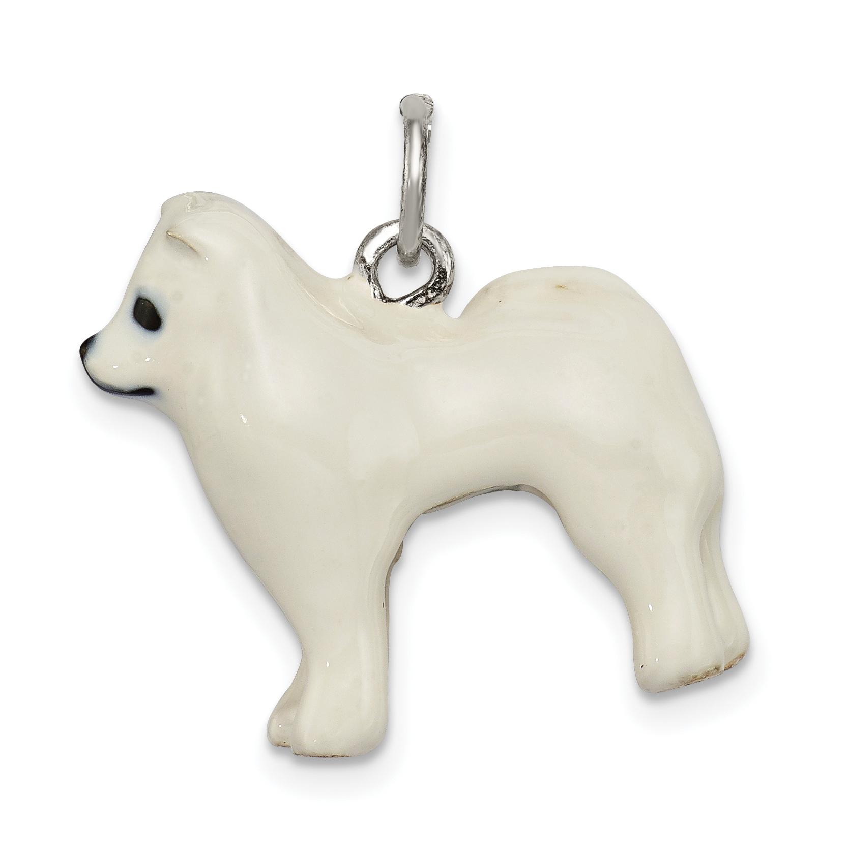 6 X PUPPY DOG ENAMEL COATED CHARMS//PENDANTS JEWELLERY MAKING