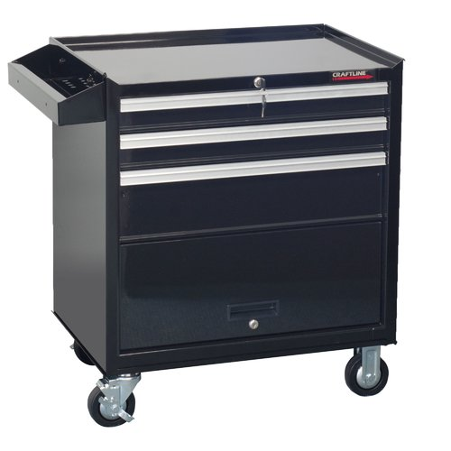 CraftLine Garage 3 Drawer Rolling Tool Cabinet with Storage Compartment by CraftLine