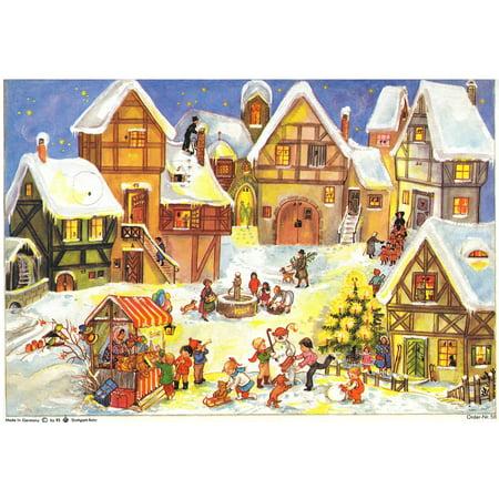 Village Christmas Market German Advent Calendar ()