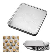 100 Pc Disposable Aluminum Foil Pans Oven Tray Table Baking Pan Kitchen Bakeware