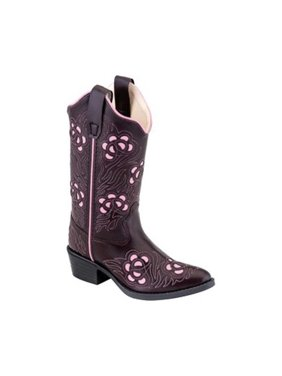 Old West Cowboy Boots Boys Girls Kids Lizard 1 Child Chocolate VJ9112