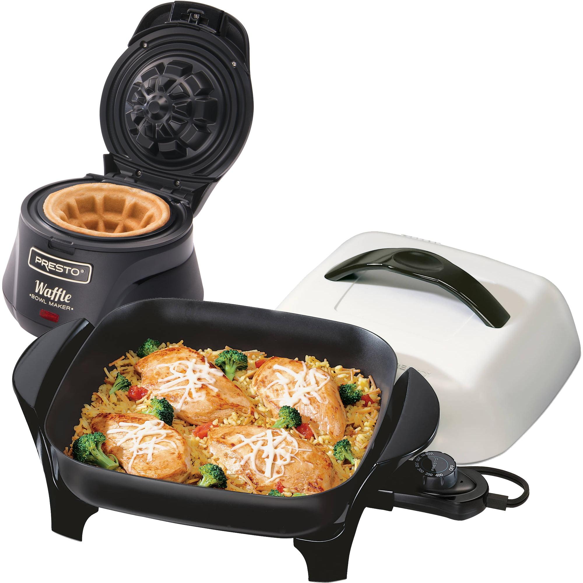 Presto 11; Electric Skillet and Belgian Waffle Bowl Maker