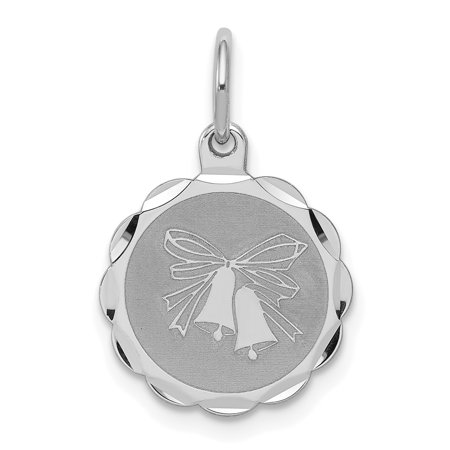 925 Sterling Silver Wedding Bells Disc Pendant Charm Necklace Special Day Fine Jewelry Ideal Gifts For Women Gift Set From Heart