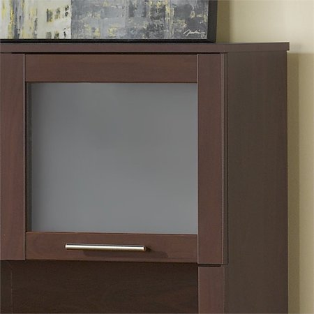 "Bush Somerset 71"" L Shaped Computer Desk with Hutch in Mocha Cherry - image 3 de 5"