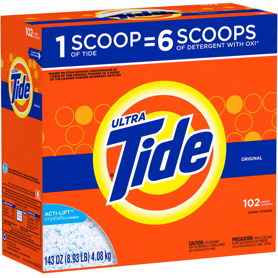 Tide Ultra Original Scent Powder Laundry Detergent, 102 Loads, 143 oz