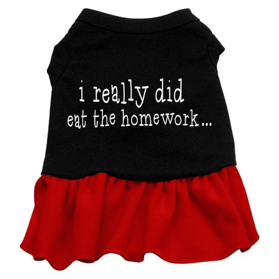 Image of Mirage 57-47 XXLBKRD I Really Did Eat The Homework Dog Dress Black w/Red 2XL