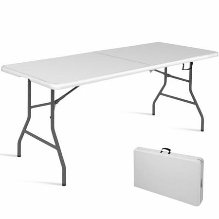 6' Folding Table Portable Plastic Indoor Outdoor Picnic Party Dining Camp Tables ()