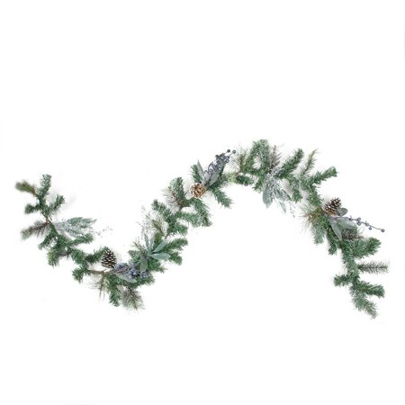 6' Mixed Pine Blueberries and Snowy Pine Cones Artificial Christmas Garland - (Mixed Garland)