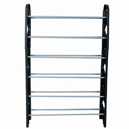 Expandable Shoe Rack, 6-Tier Shoe Organizer Shelf Stackable Storage Cabinet Towers with Durable Metal ()