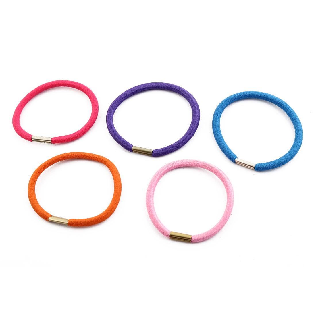 Women Lady Elastic Rubber Hair Tie Band Haristyle Holder Assorted Color 40 Pcs - image 1 de 4