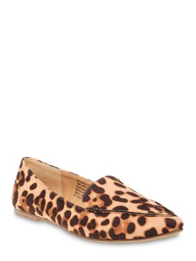 Time and Tru Animal Print Feather Flat (Women's) (Wide Width Available)