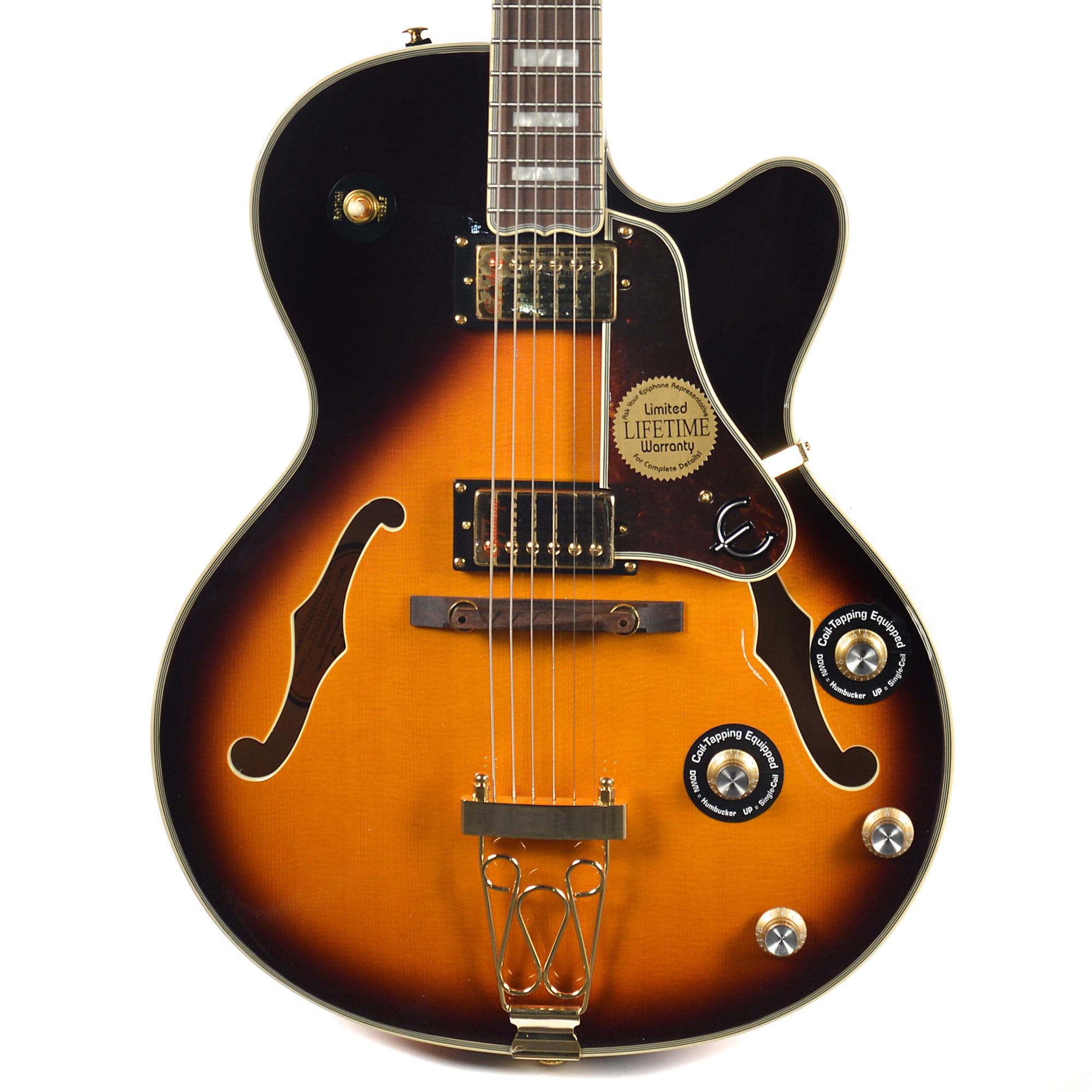 Epiphone Joe Pass Emperor-II PRO Archtop Hollow Body Electric Guitar (Vintage Sunburst) by Epiphone