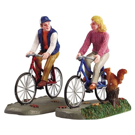 Lemax 52131 ROMANTIC BIKE RIDE Set of 2 Figurine Retired Christmas Village](Lemax Halloween Village 2017)