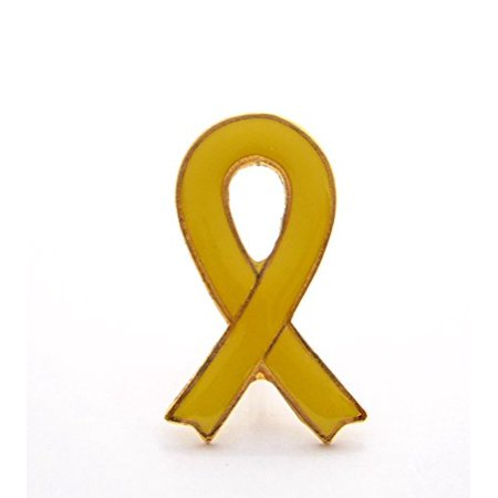 Wholesale Ribbon (Wholesale Lot Of 12 Yellow Ribbon Support Our Troops Lapel Hat Pin)