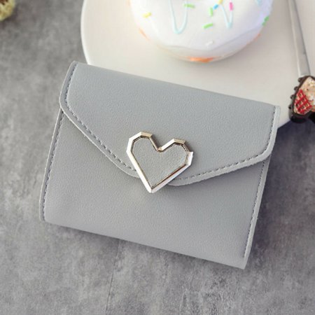 Girls Women Small Mini PU Leather Wallet Card Holder Coin Purse Clutch Handbag Organizer