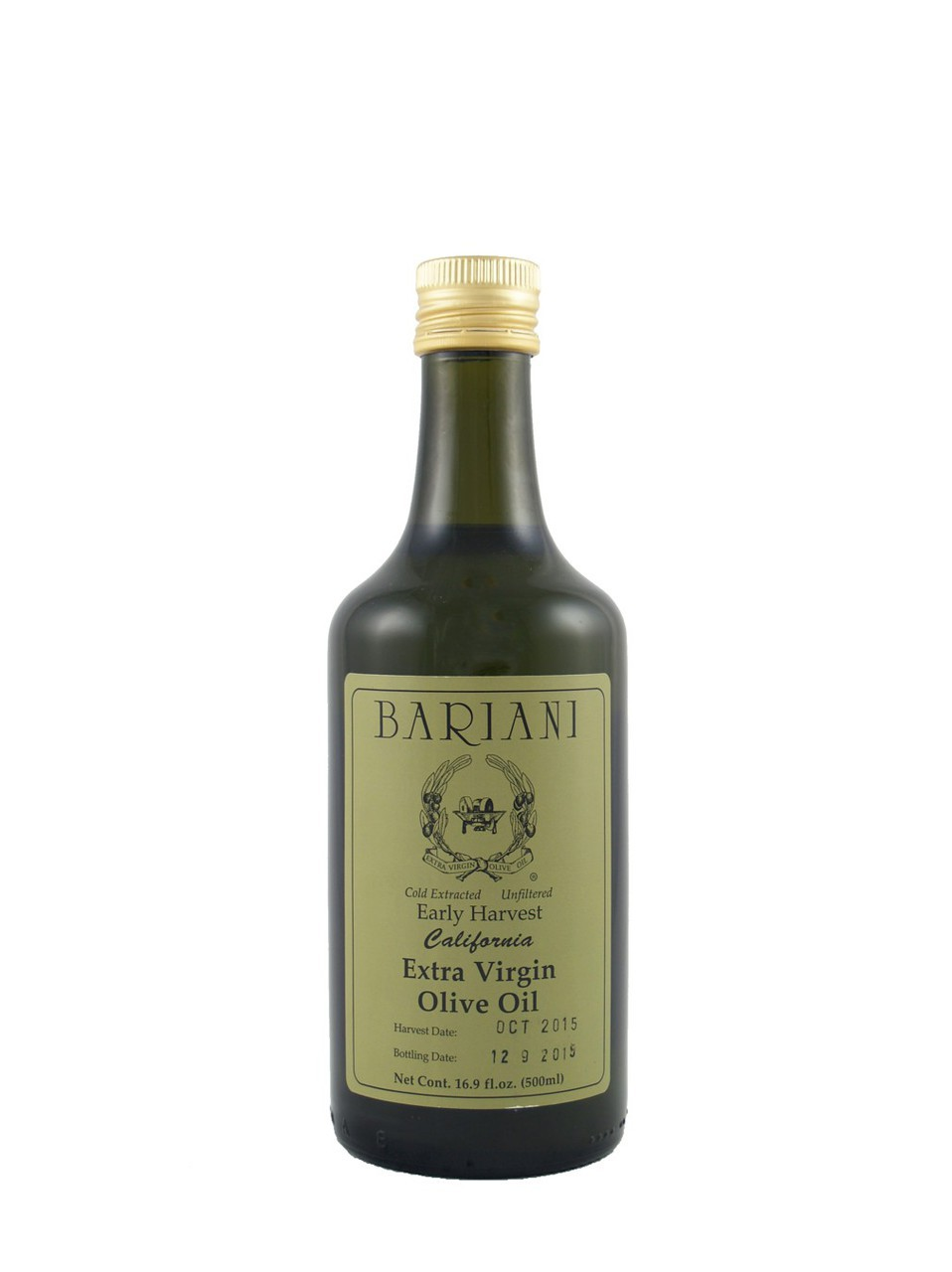 Bariani Early Harvest California Extra Virgin Olive Oil 500ml 16.9 oz by