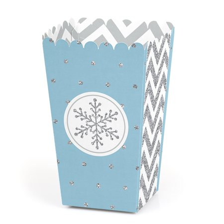 Party City Winter Springs (Winter Wonderland - Snowflake Holiday Party & Winter Wedding Popcorn Treat Boxes - Set of)
