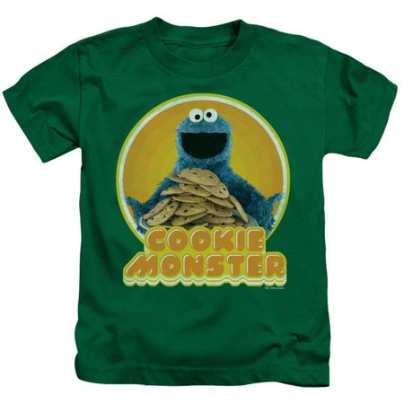 Juvenile: Sesame Street- Cookie Hug Apparel Kids T-Shirt - Green