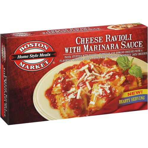 Boston Market Homestyle Meals Cheese Ravioli with Marinara Sauce, 14 oz