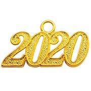 OSBO GradSeason Alloy Gold 2020 Year Charm for Graduation Tassel