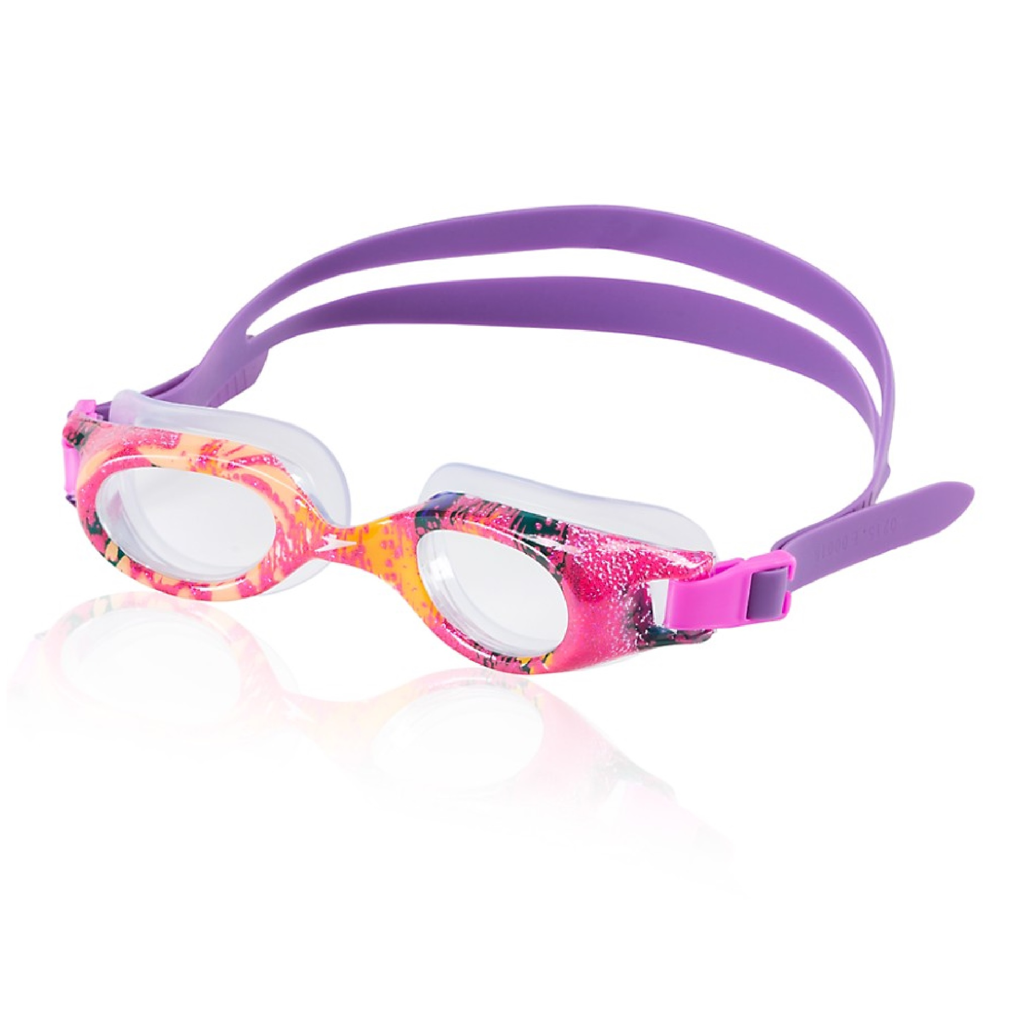 Speedo Junior Hydrospex Print Goggle Kids Recreation Goggle Pink by Speedo