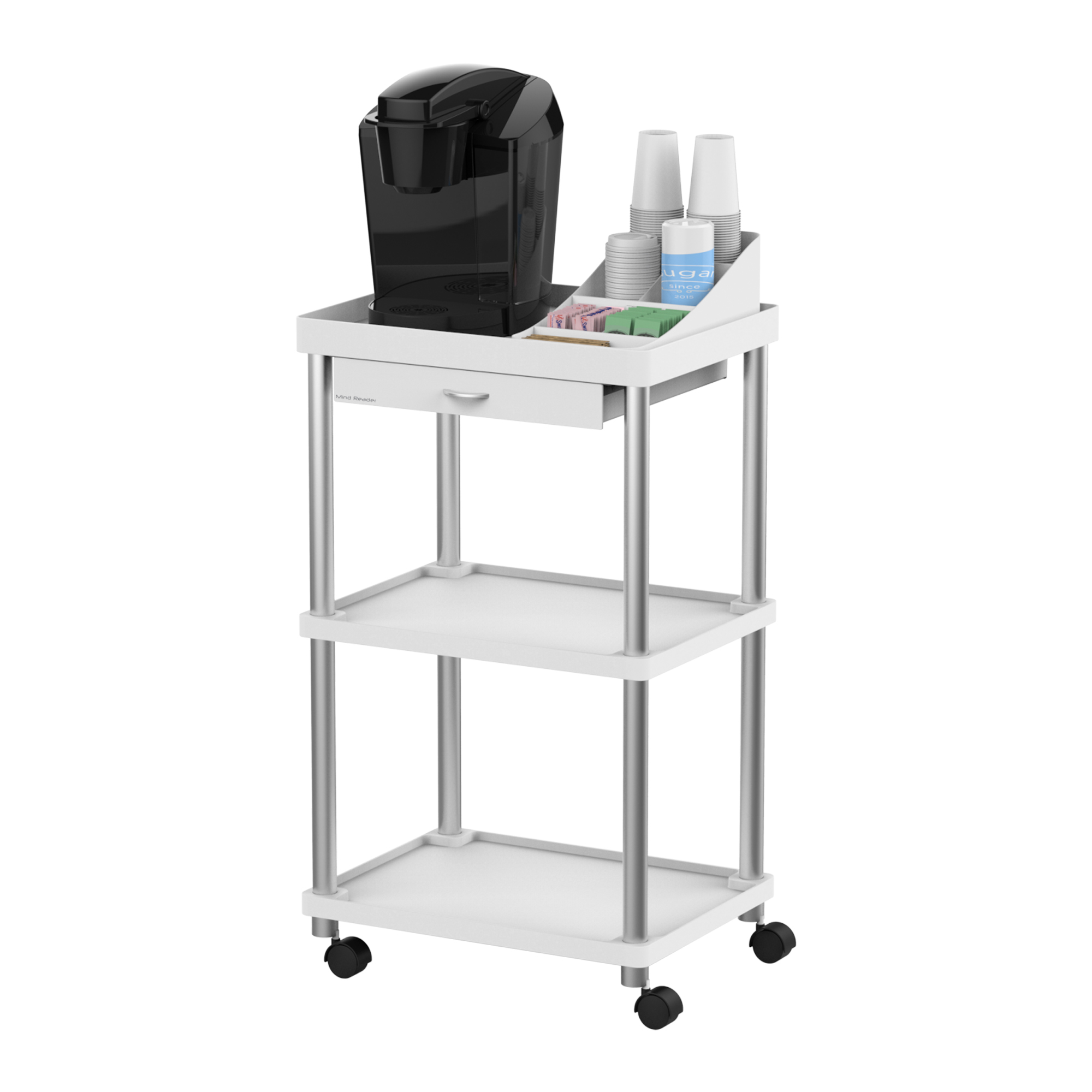 Mind Reader All Purpose Rolling Cart, Printer Cart, Utility Cart, Kitchen  Cart,