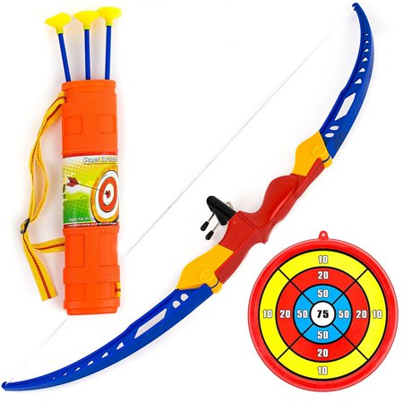 Toysery Kids Archery Bow and Arrow Toy Set with Target Outdoor Garden Fun - Toy Bow And Arrow Set