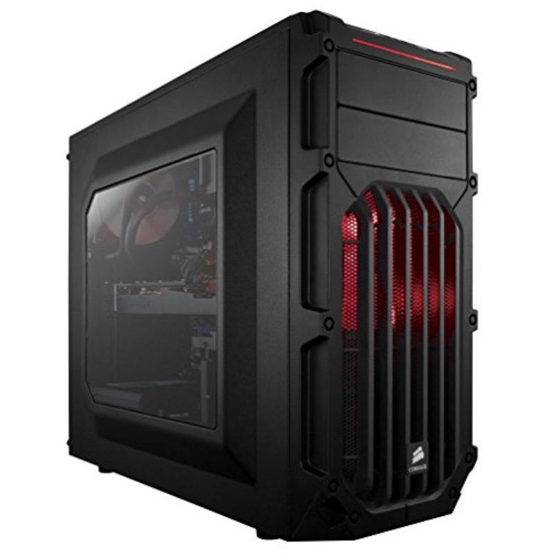 Corsair Carbide Series SPEC-03 Red Steel / Plastic ATX Mid Tower Gaming Case Model CC-9011052-WW