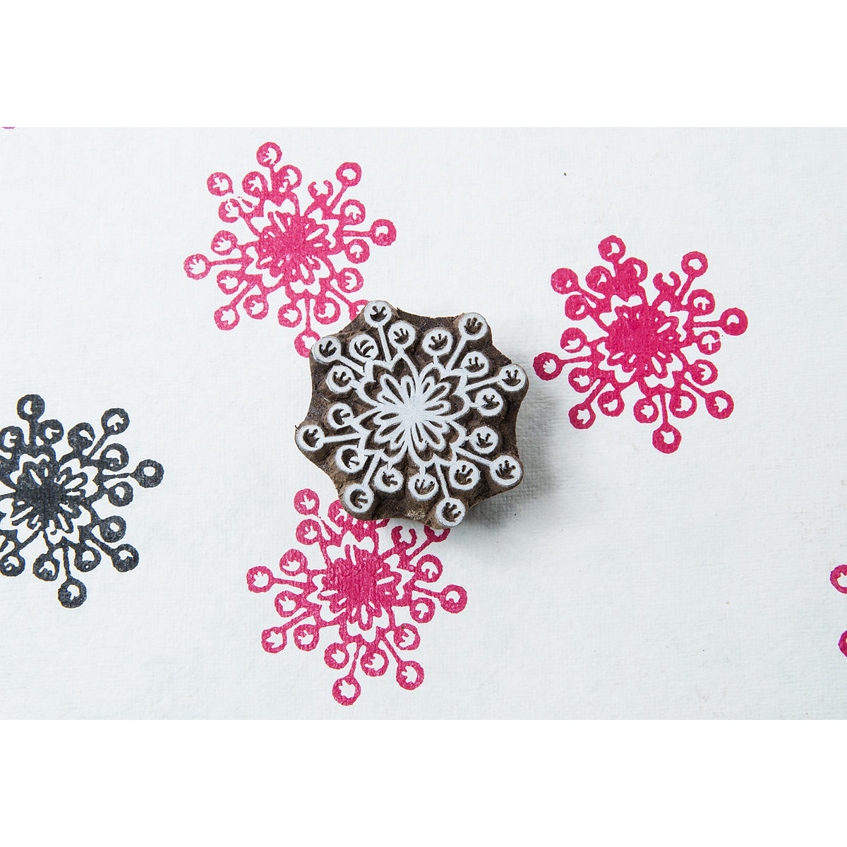 Blockwallah Block Stamp-Flower Burst